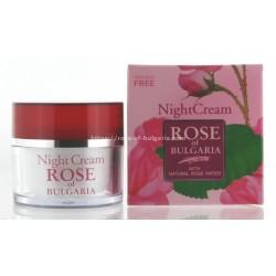 Crème de nuit à l'eau de rose