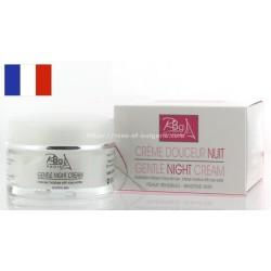 Crème de nuit structurante à l'eau de rose