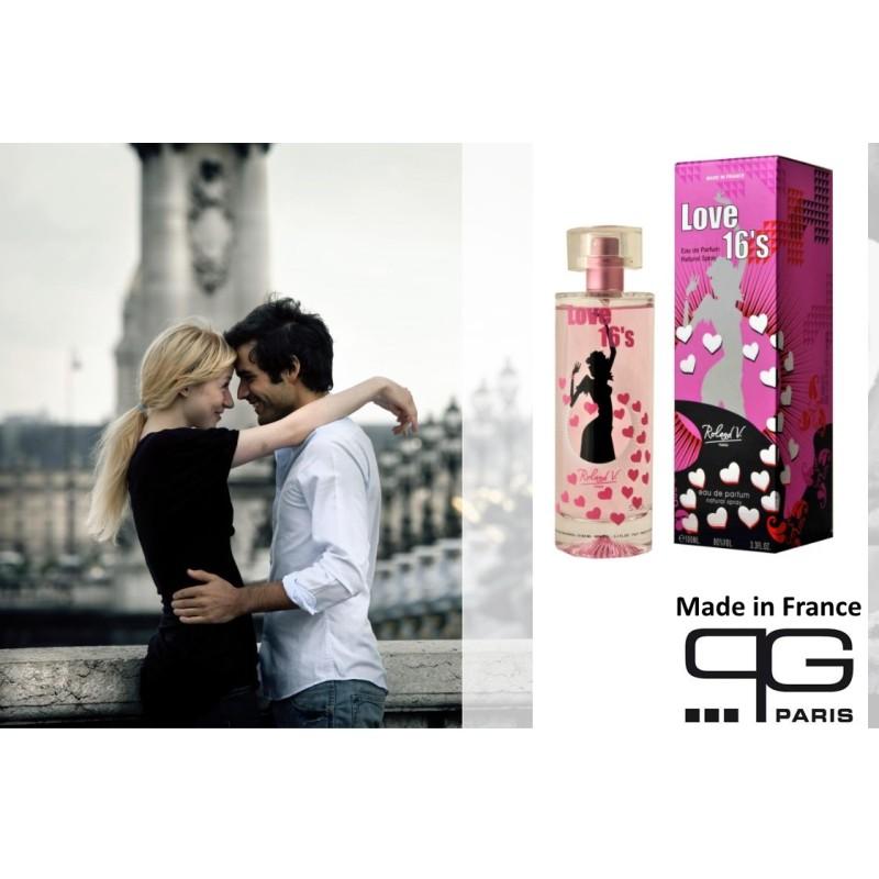 love 16s eau de parfum 100 ml made in france. Black Bedroom Furniture Sets. Home Design Ideas