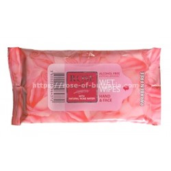 Hand & face wipes rosewater