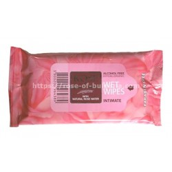 Intimate wipes rosewater