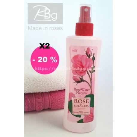 Eau de rose 230 ml spray lot de 2