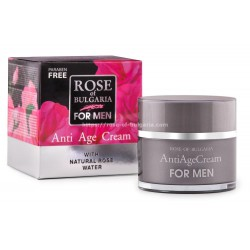 Anti-age Q10 & rosewater cream for men