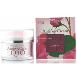 Crème anti age Q10 à l'eau de rose